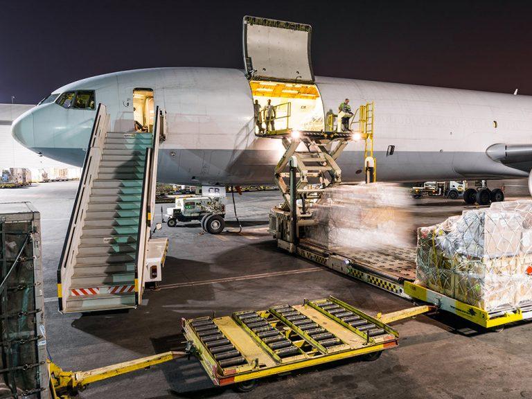 Frachtflugzeug MD11 Freighter