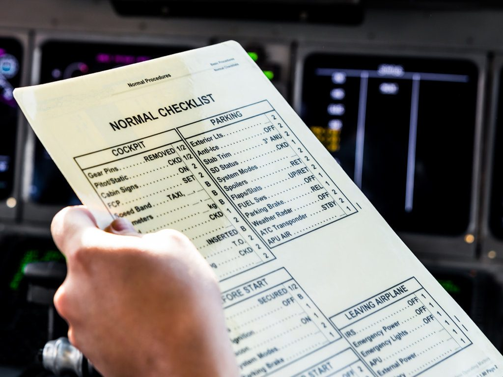 Checkliste Airliner